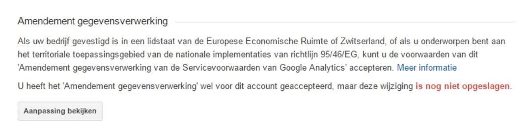 Google Analytics AVG:GDPR2